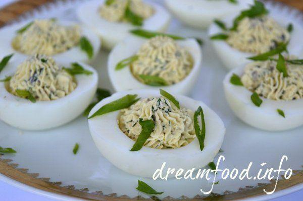 Яйця фаршировані грибами