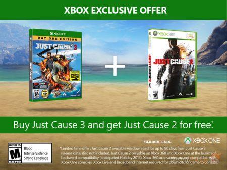 Just Cause 3 - за покупку гри на Xbox One подарують Just Cause 2