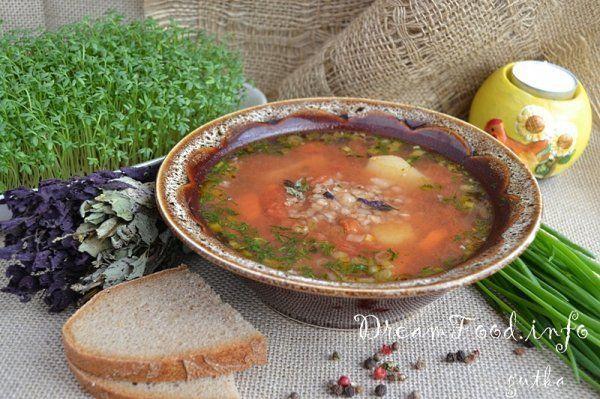 рецепт томатного супу з гречкою
