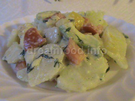 Картопляний салат з авокадо