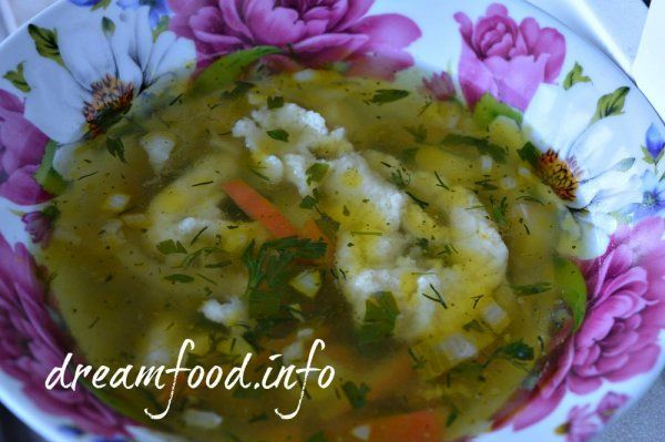 Пісний суп з галушками