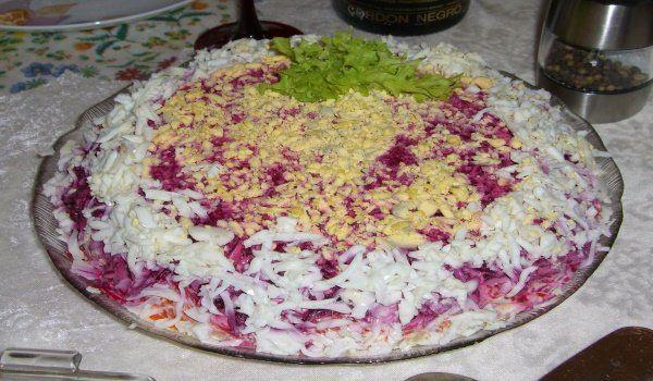 Рецепт салату оселедець під шубою