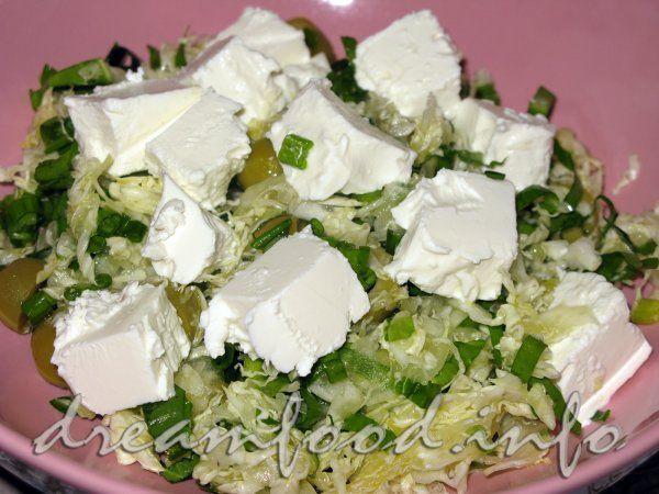 Салат з черемші з фетою