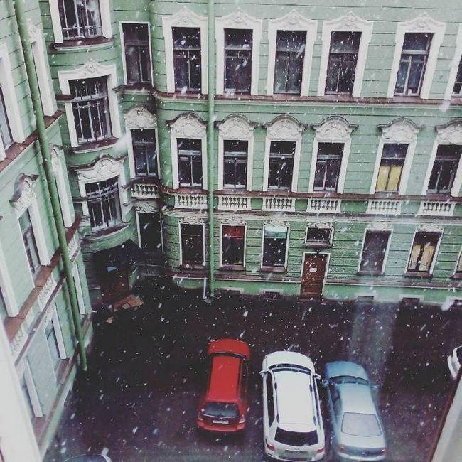 сніг в Пітері квітень 2016