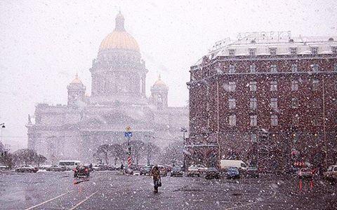 петербург в снігу