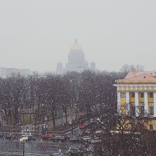 Петербург в снігу квітень 2016