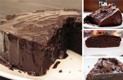 Супер вологий шоколадний пиріг без яєць