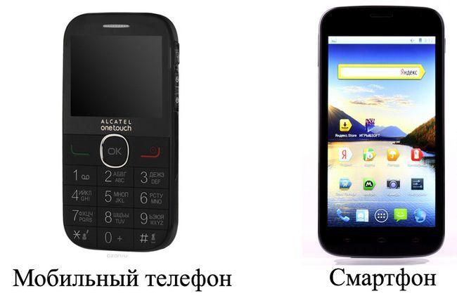 Мобільний телефон і смартфон